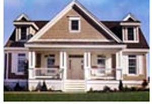 Uma casa pré-fabricada de dois andares