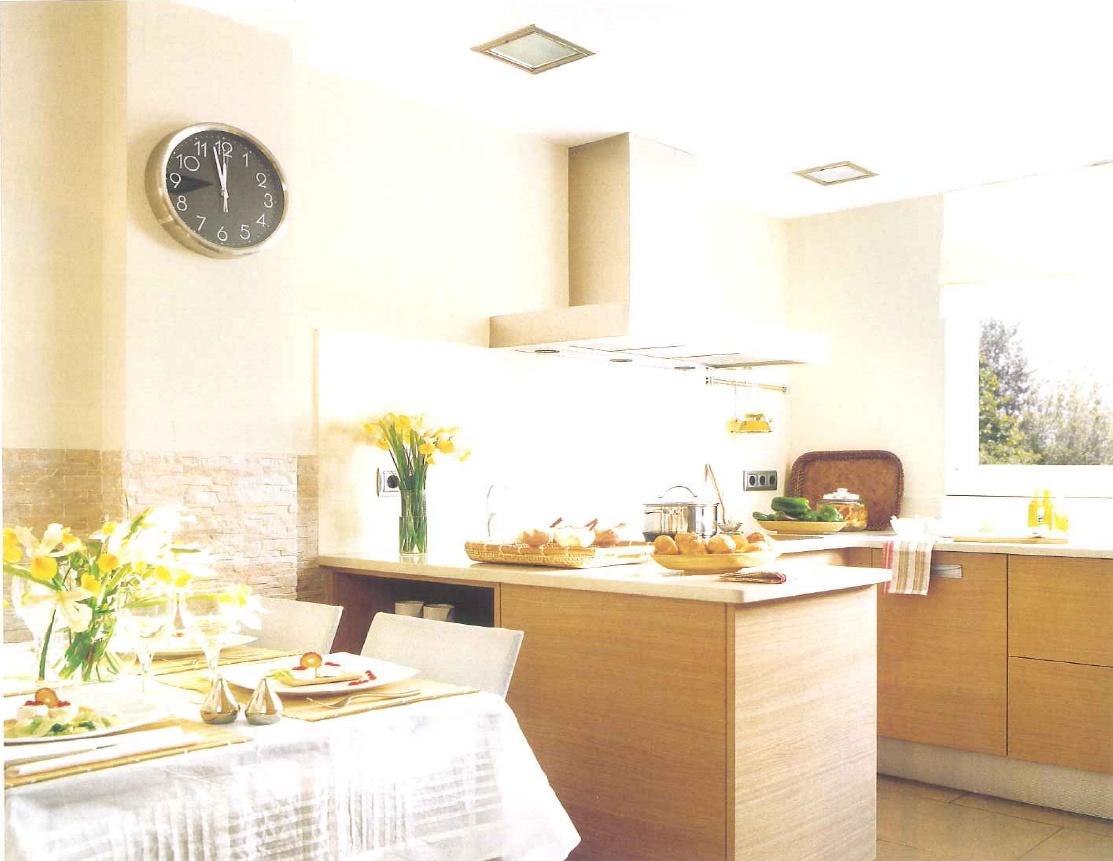 decoração de interiores, decoração cozinha - armários de cozinha faia