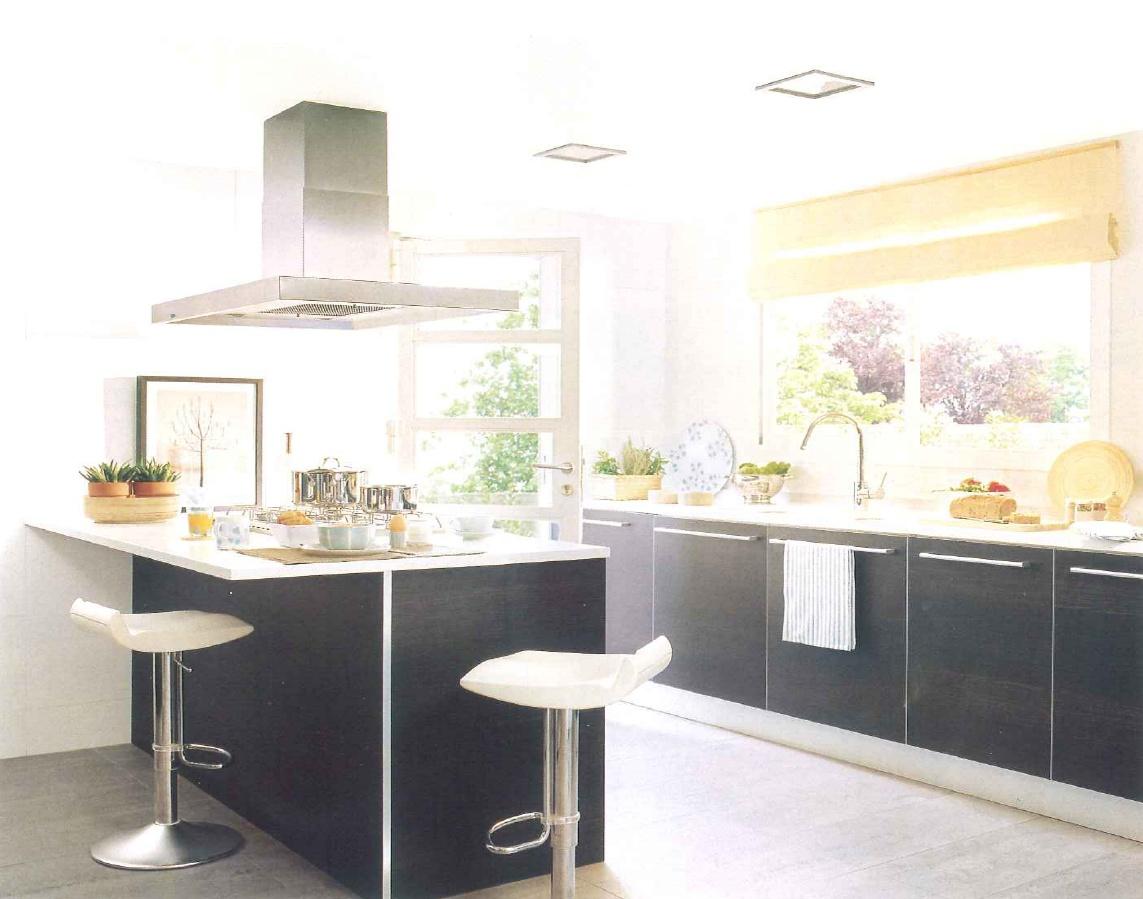 decoração de interiores, decoração cozinha - armários de cozinha wengué