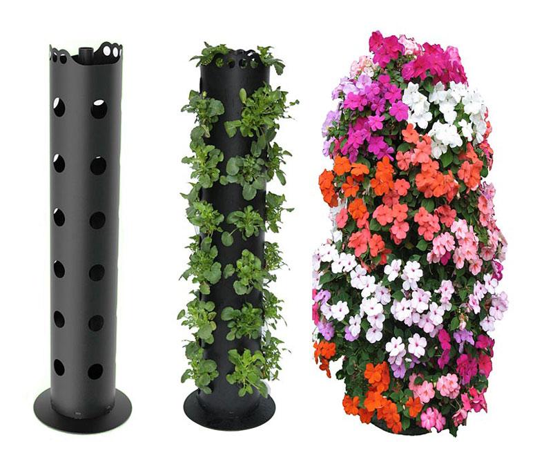 plantas jardim tipos:Ideias de tipos de vasos para jardim vertical – Faça Você Mesmo