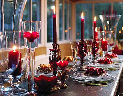 mesa véspera de jantar